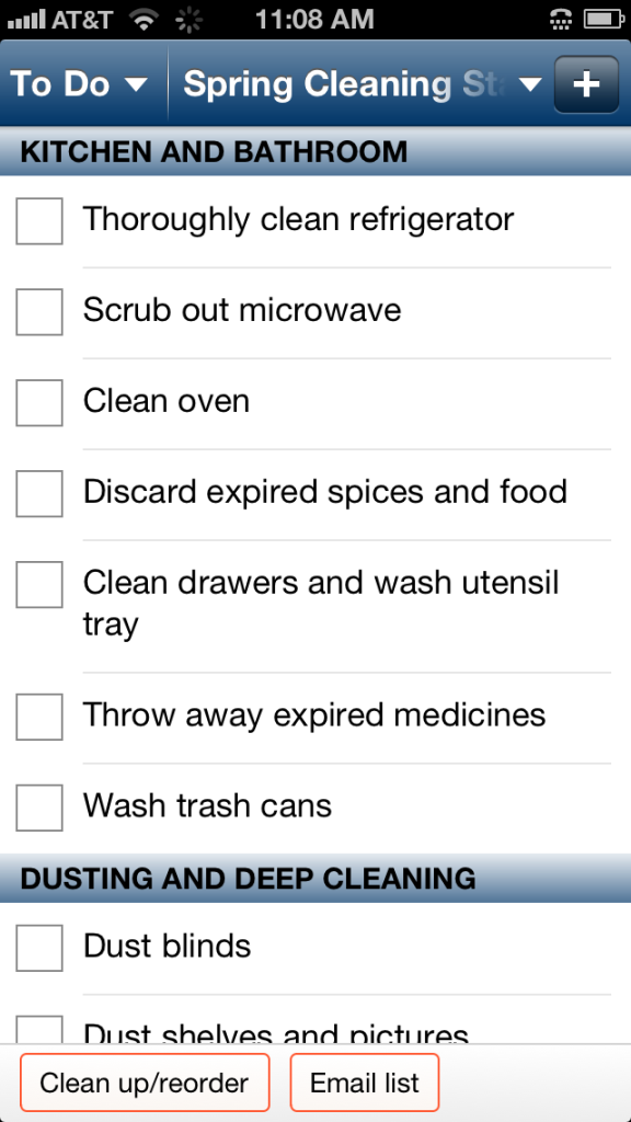 SpringCleaningToDoList