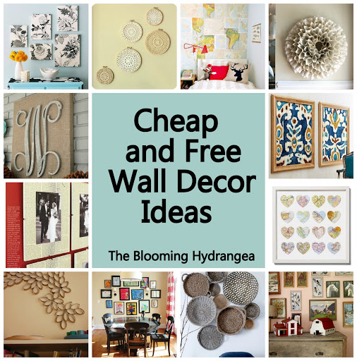 Cheap free wall decor ideas roundup for Decorating living room walls on a budget
