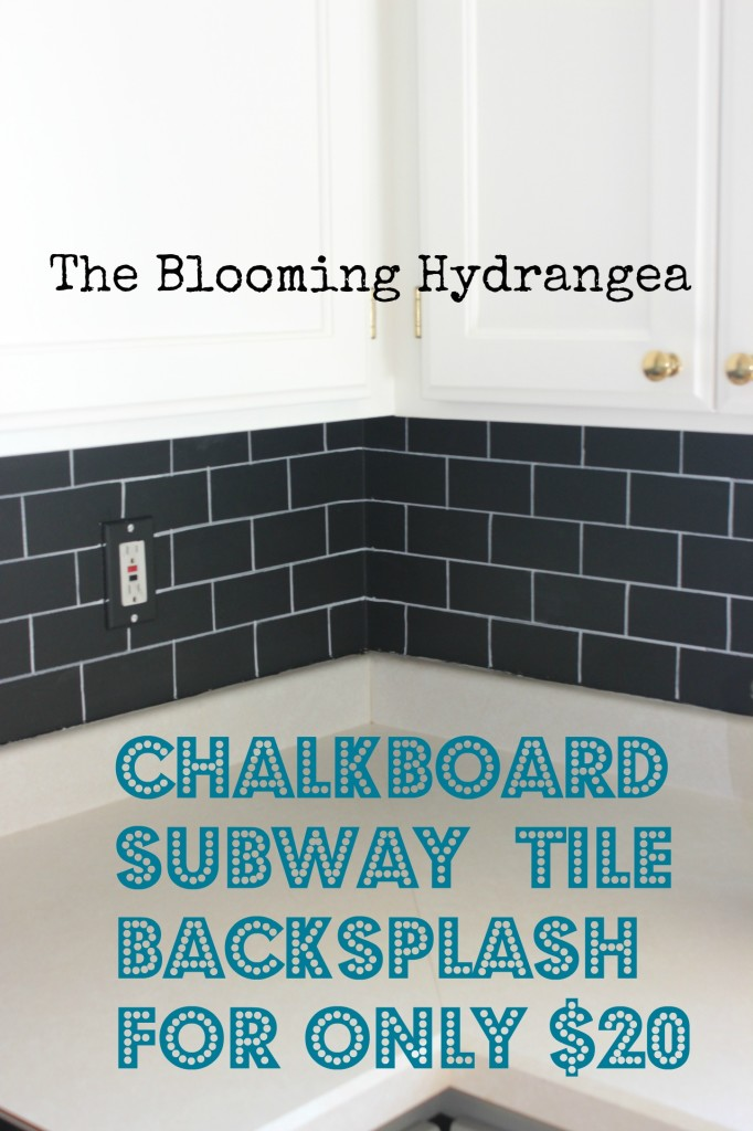 chalkboard subway tile backsplash & my kitchen